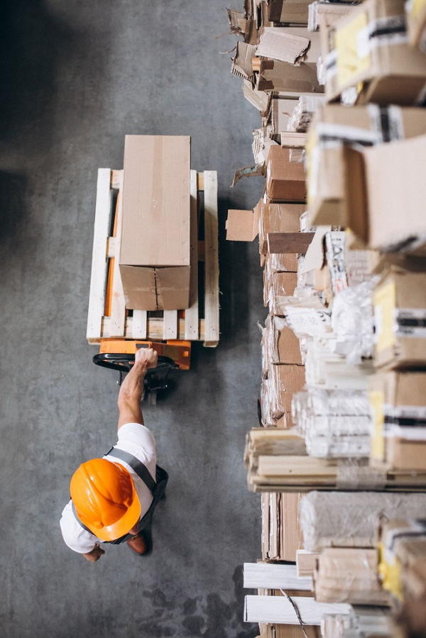 Logistics moving boxes